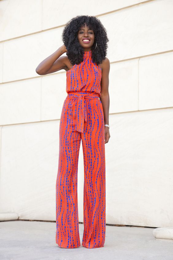 printed sleevelss jumpsuit