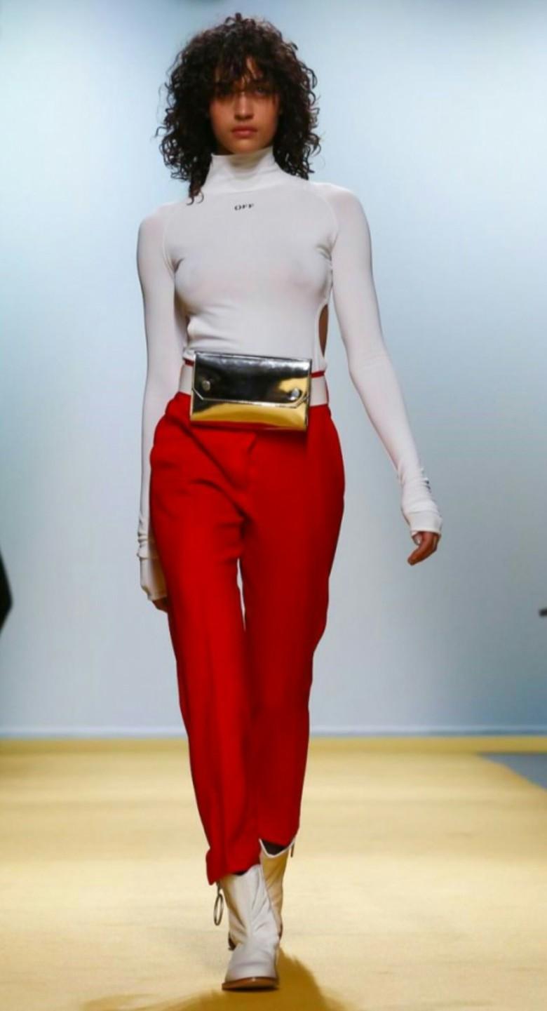 OFF-WHITE by Virgil Abloh, spring 2017 Paris Fashion Week. (Image, FashionNow.com)