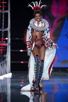 Model Amilna Estevao in Victoria's Secret Fashion Show (Photo by Timur Emek/FilmMagic)